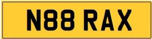 BRAXTON Private Registration Cherished Number Plate inc TRANSFER FEES